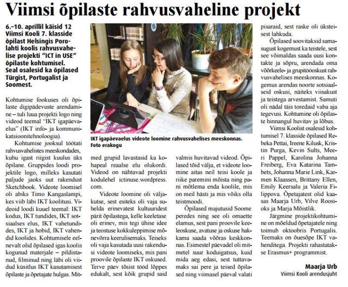 VT_ICT in USE Soome kohtumine 22.04.2016